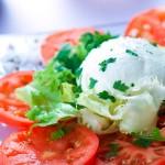 Tomates mozzarella di Bufala