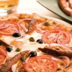Pizza aux merguez de boeuf & mouton